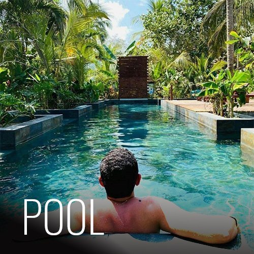 Our pool is beautiful and designed to please everyone. With a climbing wall and lap swimming area for those that want to be active, and a deck and shallow areas where you can sunbathe and hang out. It is one of the many reasons why you should come and stay with us.