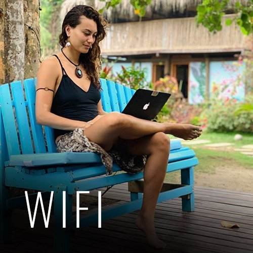 We have free Wifi that works in our social areas, so you can communicate with your friends and family, or if you want to work from your computer