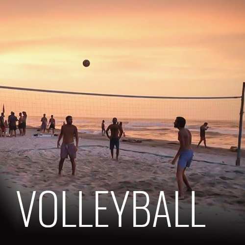 We have a Volleyball court in front of the hostel on the beach. We have daily games and organize a tournament once a week!!
